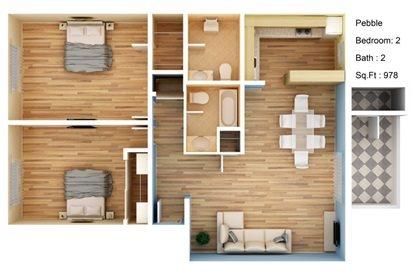 Pebble Floor Plan 3
