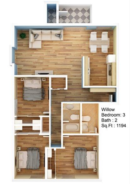 Willow Floor Plan 4