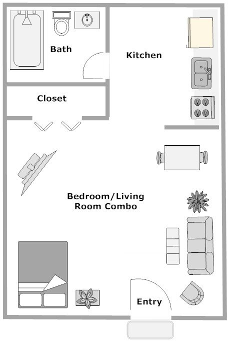 Grand Oaks Apartment Homes Riverview, FL 33578 1 bedroom 1 bathroom studio floor plan