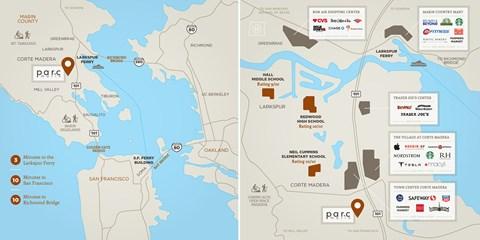Community Map l Parc Marin Apartments