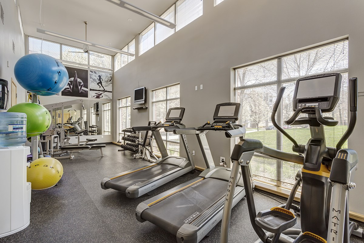 Fitness Center at Trostel Square Apartments in Milwaukee, WI