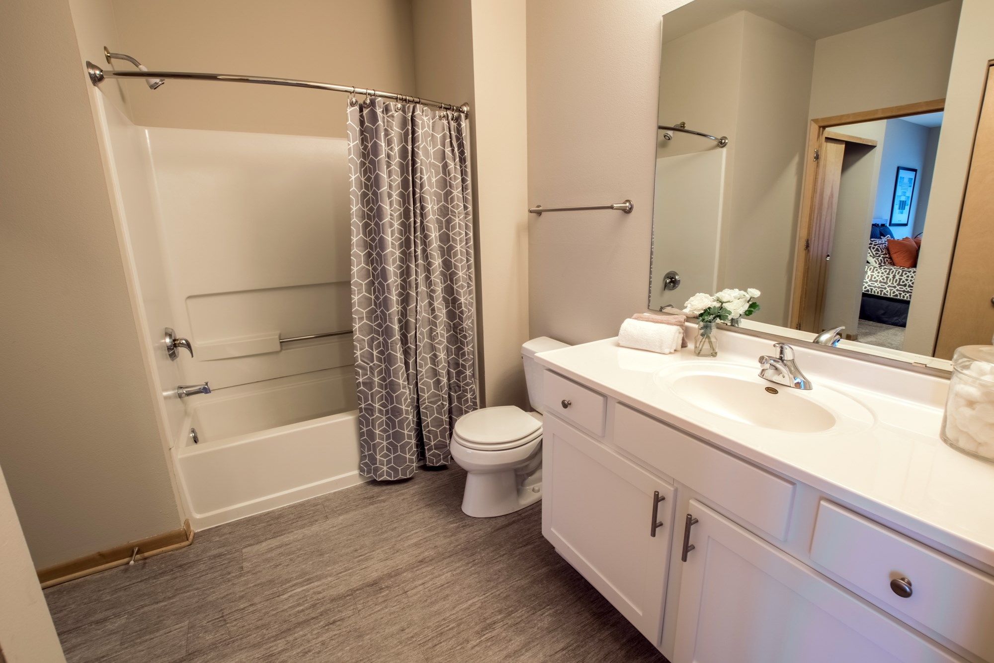Bathroom at Trostel Square Apartments in Milwaukee, WI