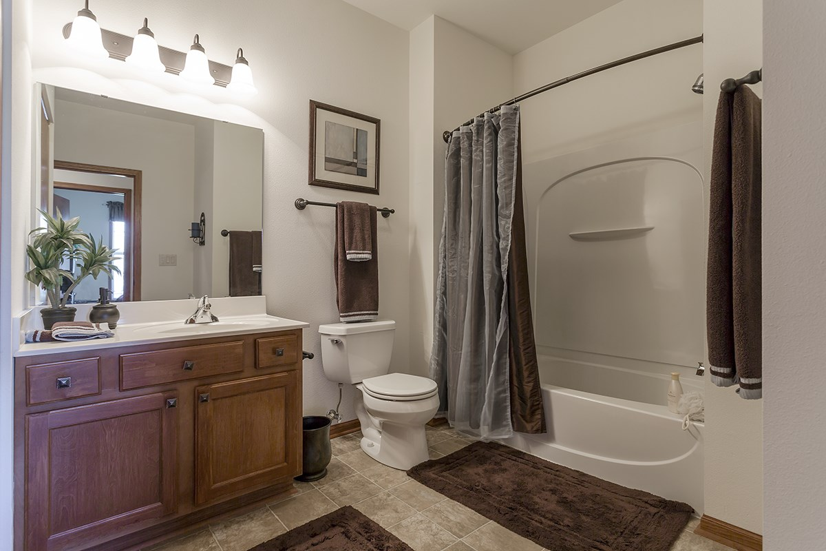 Bathroom at Norhardt Crossing Apartments in Brookfield, WI