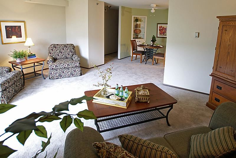 Living Room at Norhardt Apartments in Brookfield, WI