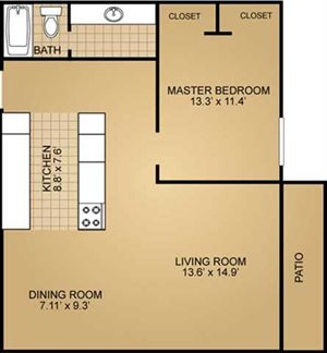 Ridge view apartments 4561 south whitnall avenue st for 900 sq ft apartment floor plan