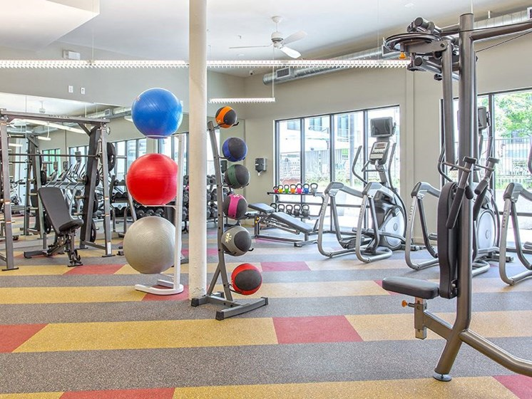 downtown austin apartments with a fitness center