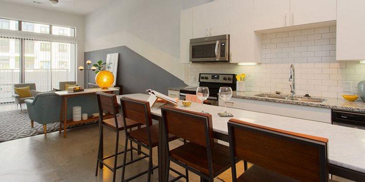 kitchen interior apartments in east austin