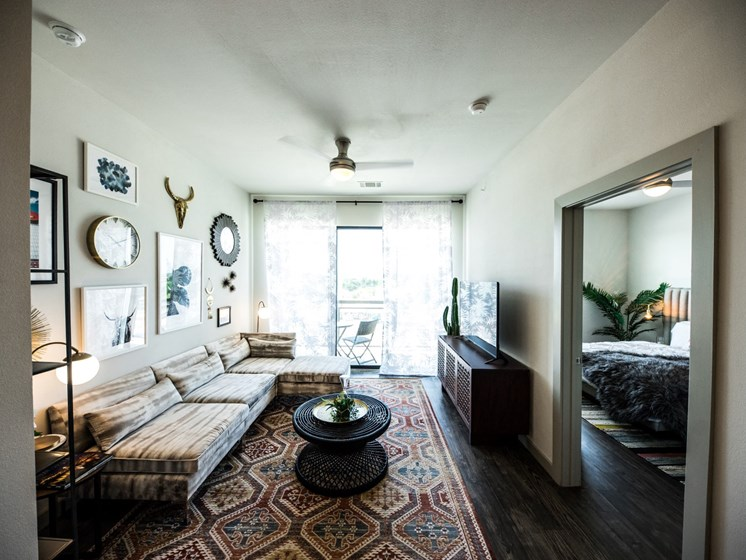 living room apartments in east austin