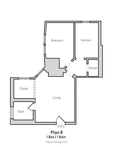 1 Bedroom - Plan 8