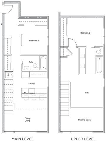 2 bed X 2 bath w/ loft Floor Plan 6