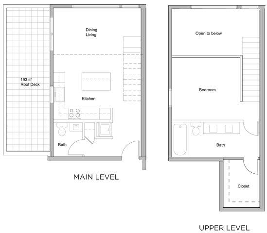 2 bed X 2 bath w/ loft & patio Floor Plan 5