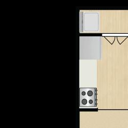 2 Bedroom 1 Bath - The Citrine
