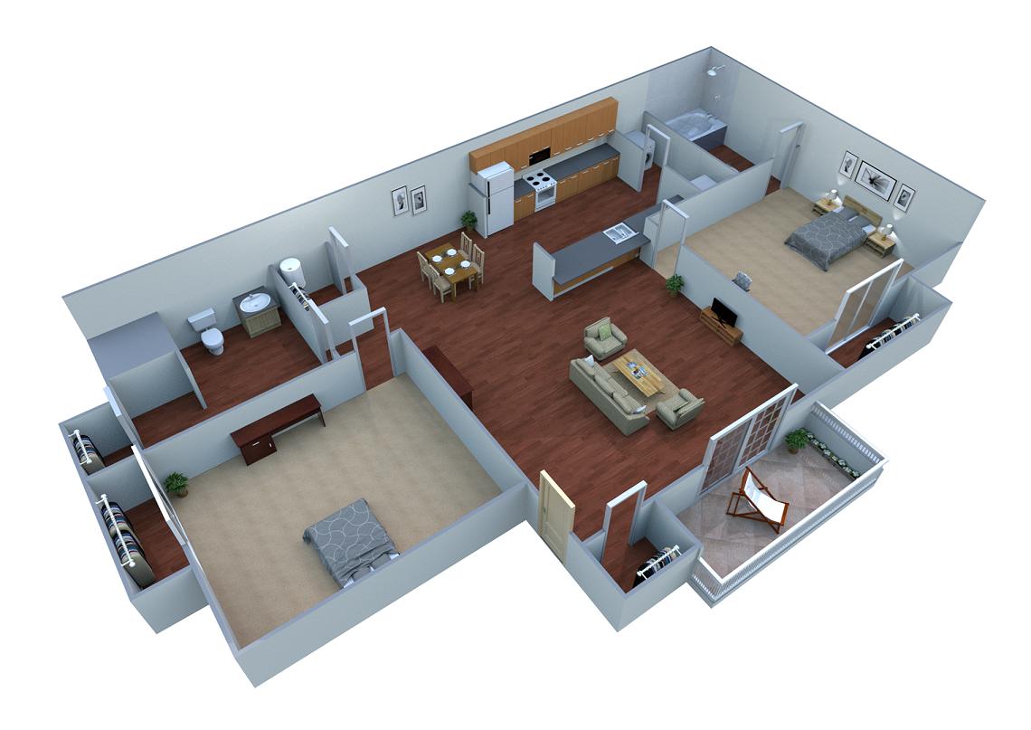 2B Floor Plan 3
