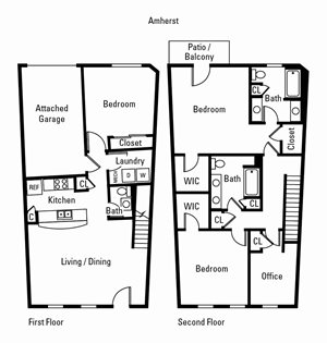 3 Bedroom, 2.5 Bath 1,934 sq. ft. (Amherst)
