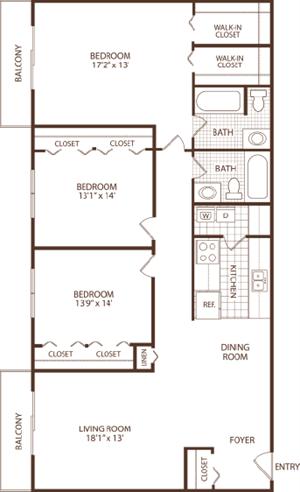 3 Bedroom - 1 Bath