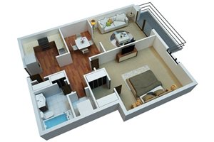 One Bedroom One Bath/A1