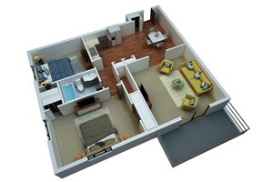 Two Bedroom One Bath/B2