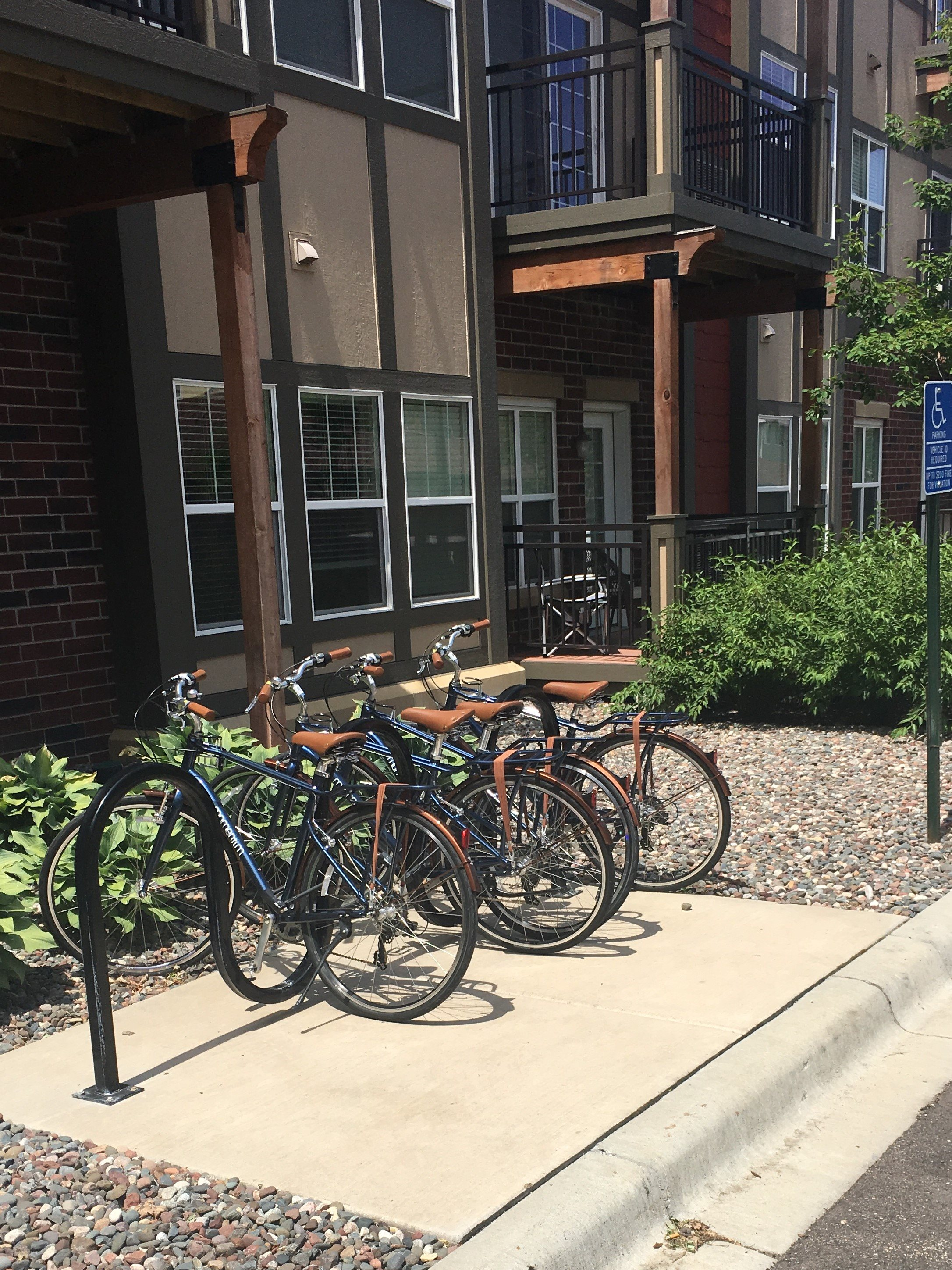 Community Bike Share Program at 5 Central Apartments, Osseo, Minnesota