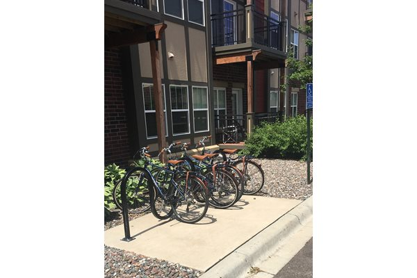 Community Bike Share Program at 5 Central Apartments, Osseo, Minnesota