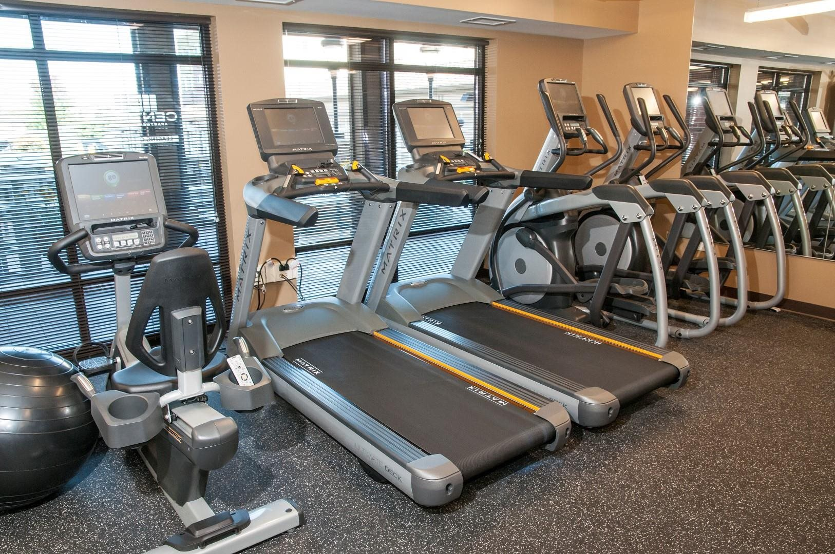 High-Tech Fitness Center at 5 Central Apartments, Osseo, MN