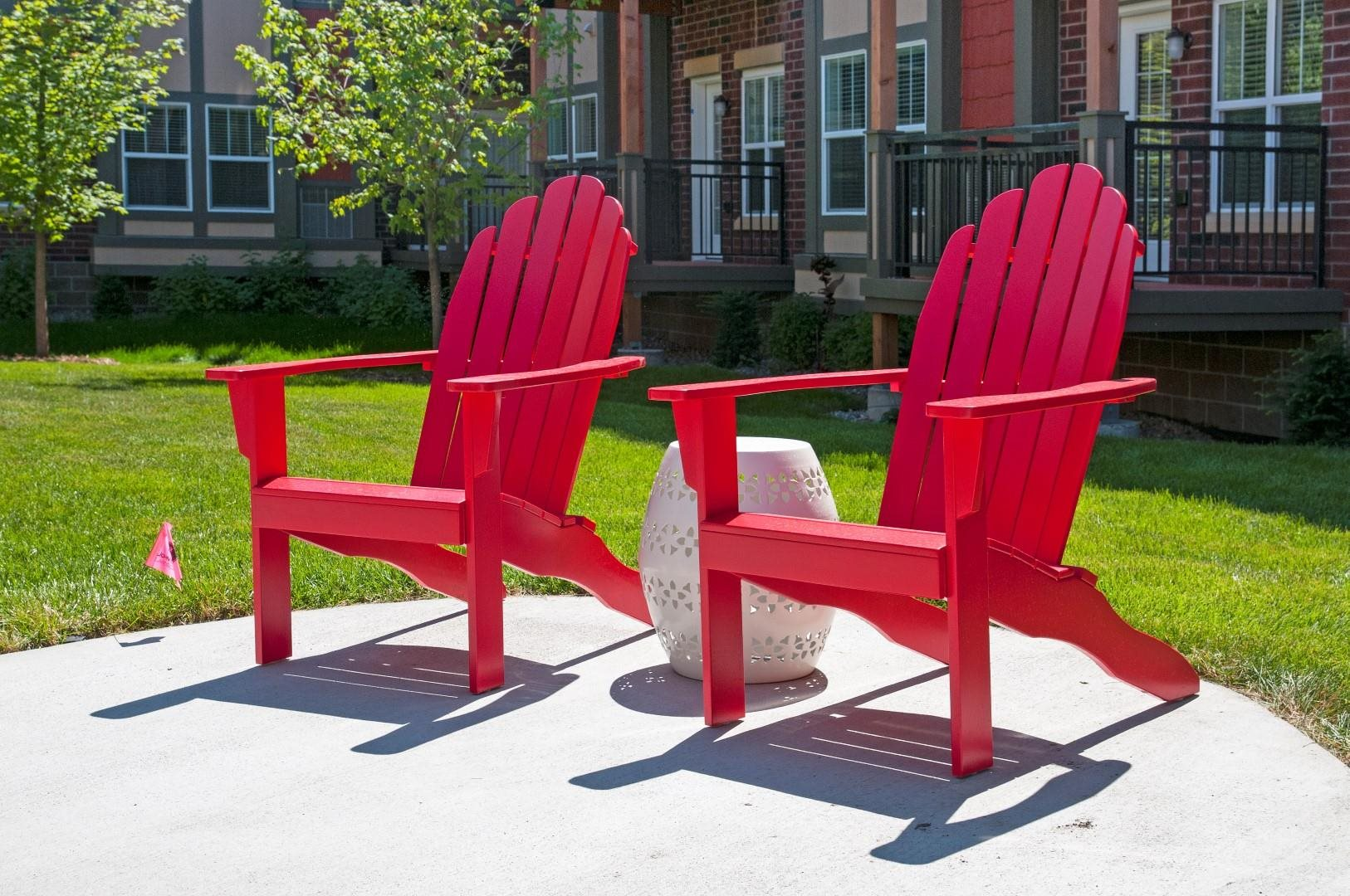 Outdoor Picnic and Relaxing Area at 5 Central Apartments, Osseo, MN 55369