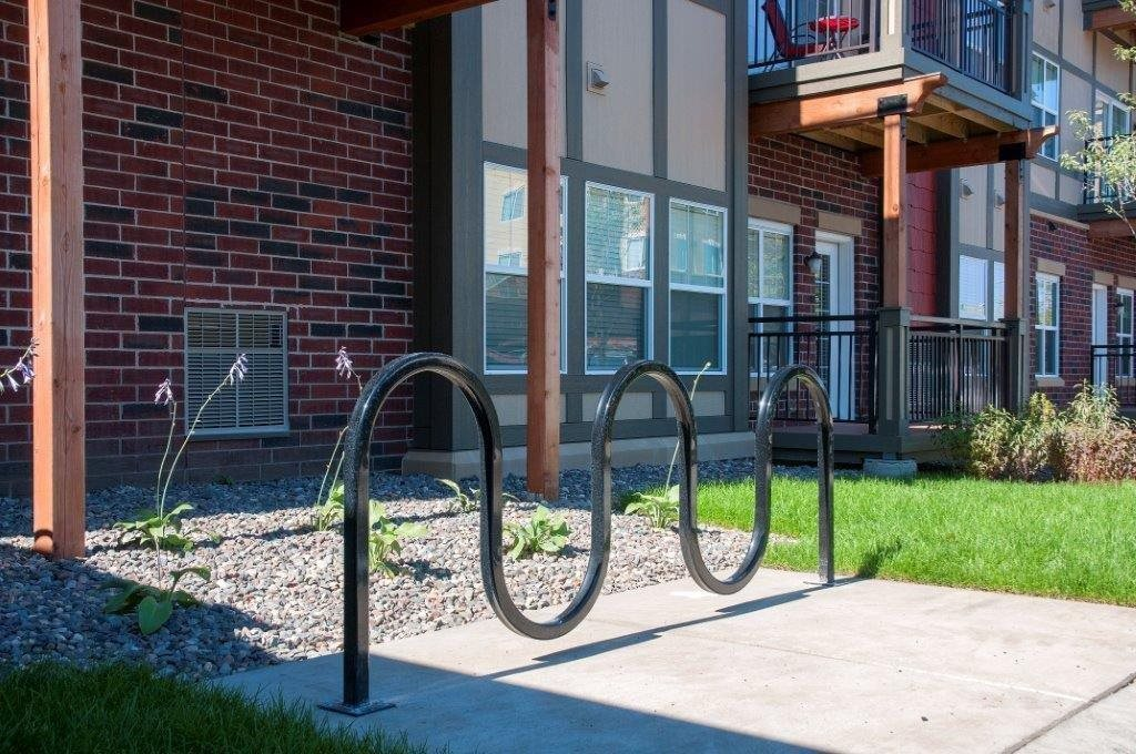 Bike Racks at 5 Central Apartments, Osseo, MN