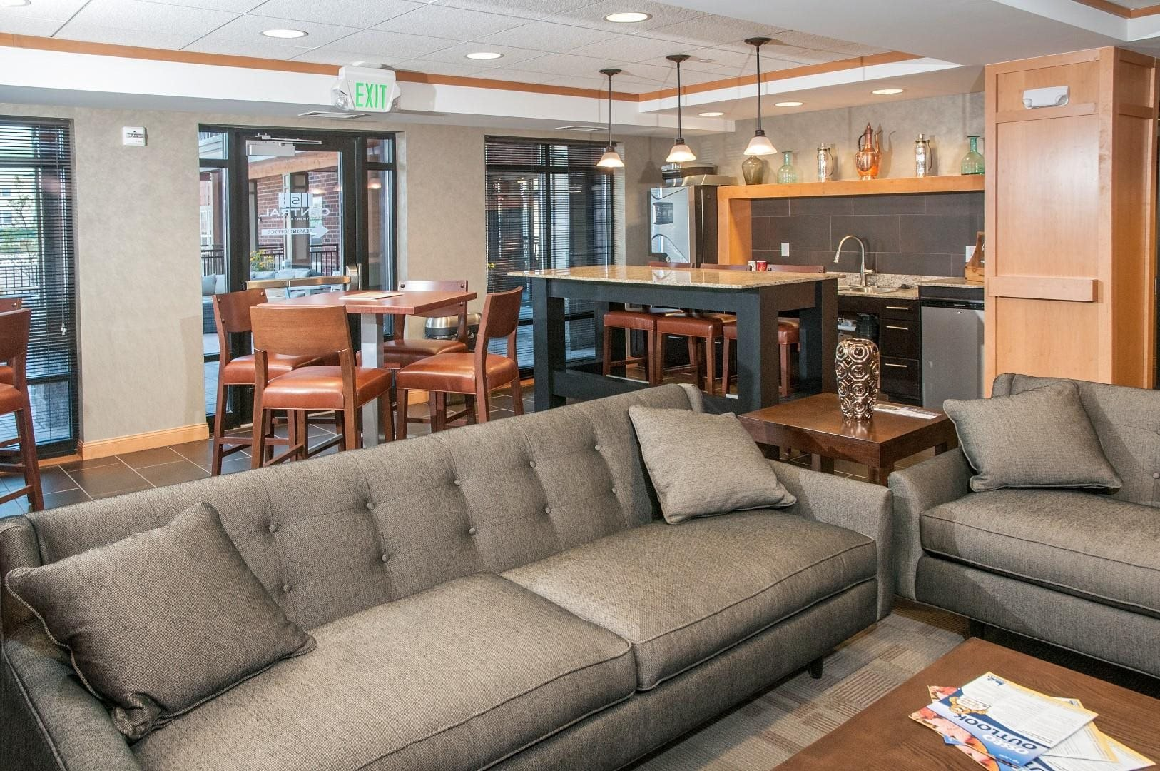 Clubhouse with Modular Kitchen at 5 Central Apartments, Osseo