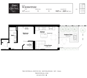 700 Central_Minneapolis, MN_1BR-1BA_Webster walkout