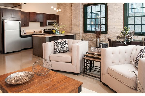 Exposed Brick Accents (select LOFTS)