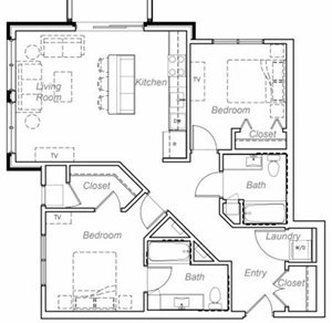 Floor plan at Overlook on the Creek, Minnetonka, 55305
