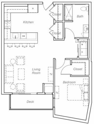 Floor plan at Overlook on the Creek, Minnetonka, MN