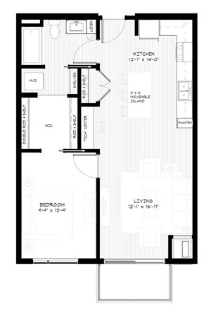 Zest Apartments in Minneapolis, MN A2 (741 sqft)