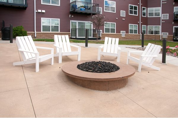Outdoor Fire Pit at Eastwood Ridge, Rochester, MN