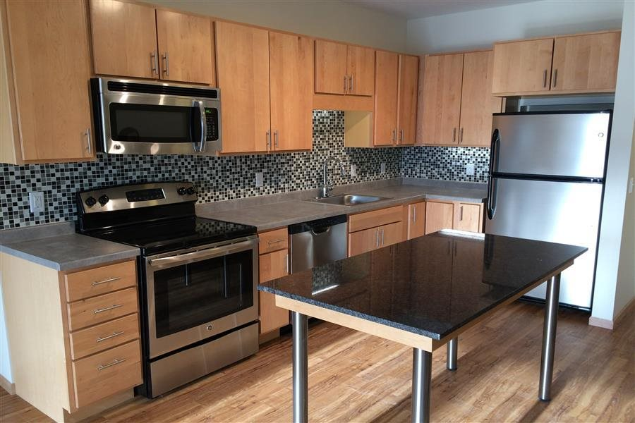 Glass Tiled Kitchen Backsplash at Third North, Minnesota, 55401