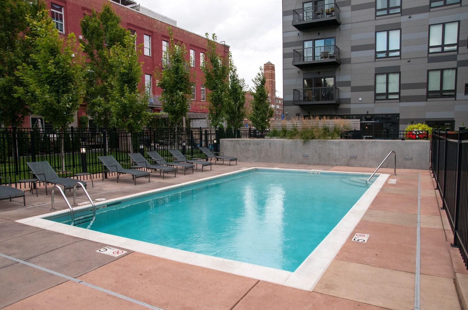 Swimming Pool with Lounge Chairs at Third North, Minneapolis, 55401