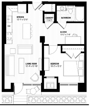 Floor plan at Third North, Minneapolis, 55401