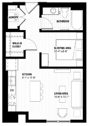 Floor plan at Third North, Minneapolis, Minnesota