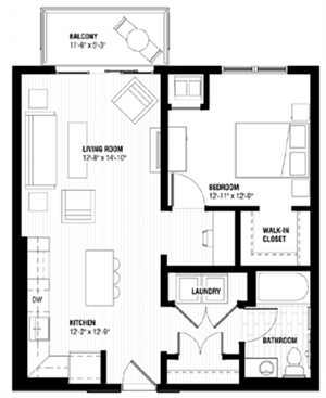 Floor plan at Third North, Minneapolis, MN