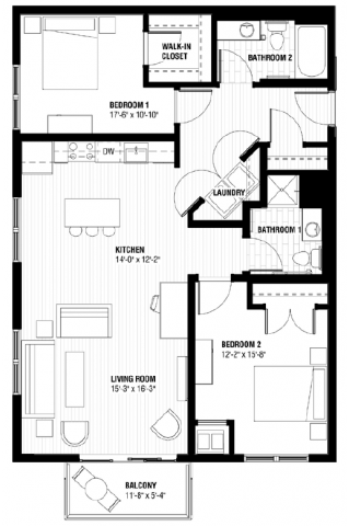 Studio 1 2 Bedroom Apartments In Minneapolis Mn Third North