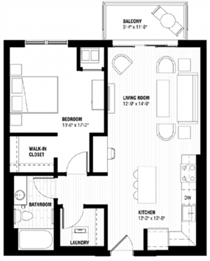 Floor plan at Third North, Minneapolis, MN 55401