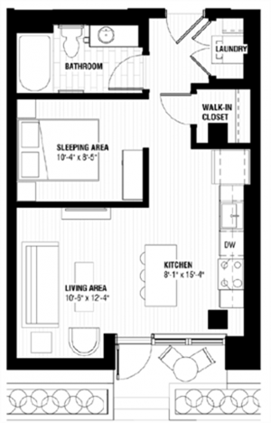 Floor plan at Third North, Minnesota, 55401