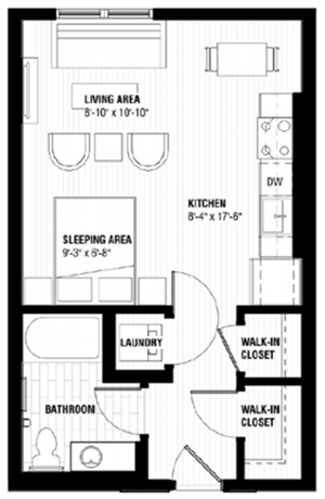 Floor plan at Third North, Minneapolis