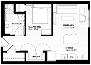 Floor plan at Third North, Minnesota
