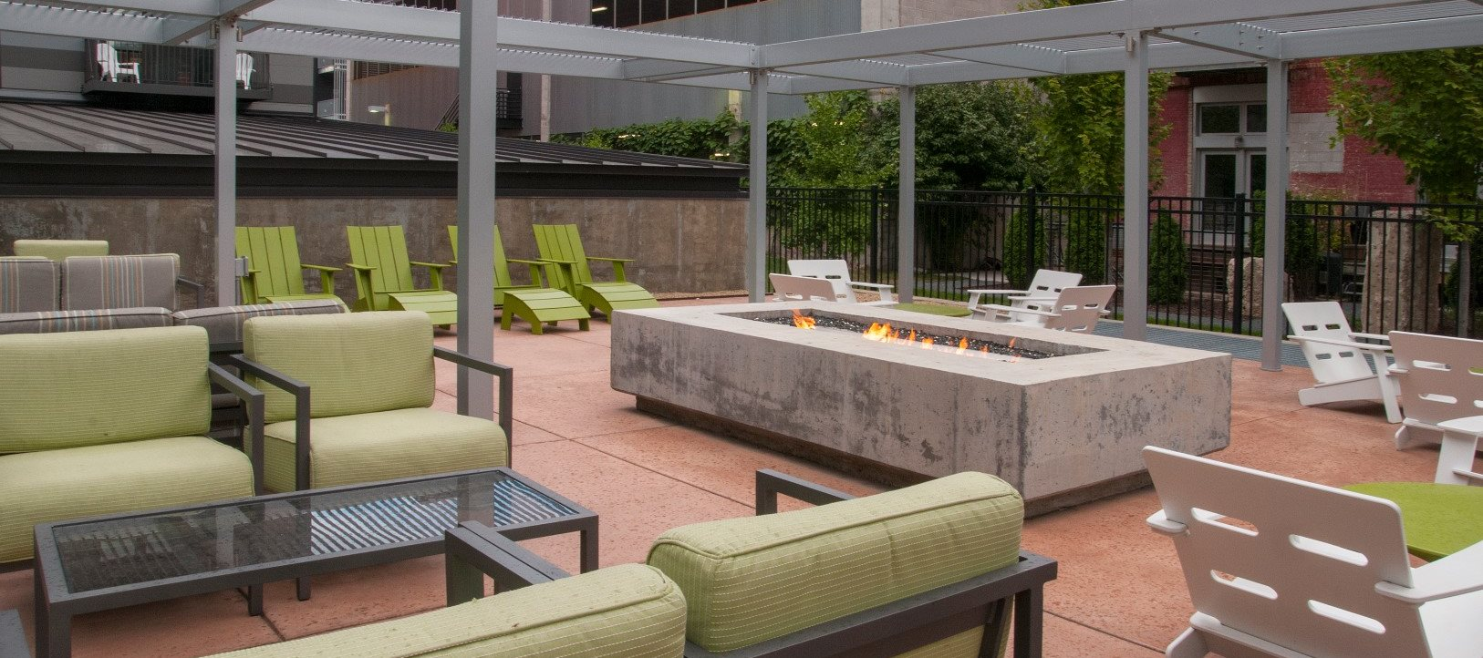 Relaxing Outdoor Lounge with Fire Pit at Third North, Minnesota