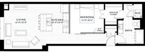 Floor plan at Custom House, St. Paul, Minnesota
