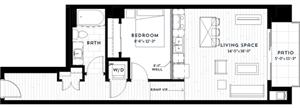 Floor plan at Custom House, St. Paul