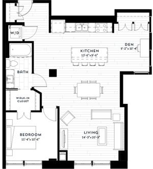 Floor plan at Custom House, St. Paul, MN 55101
