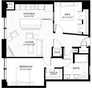 Floor plan at Custom House, St. Paul, MN