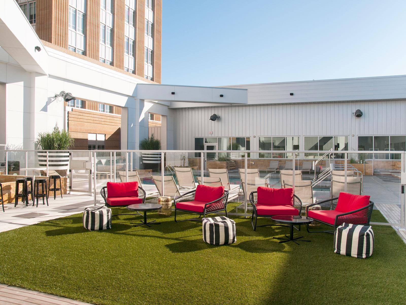 Outdoor Lounge At Custom House, Minnesota