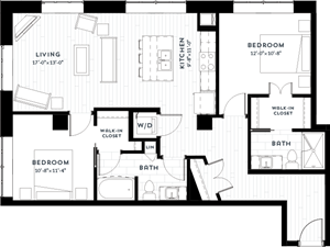 Floor plan at Custom House, St. Paul, 55101
